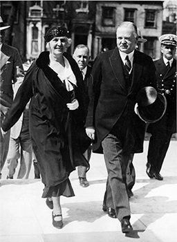 President and Mrs. Hoover attending the dedication ceremonies of the new Folger Shakespeare Library.