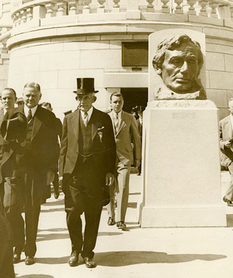 President Hoover at the rededication of Lincoln's tomb, June 17, 1931.