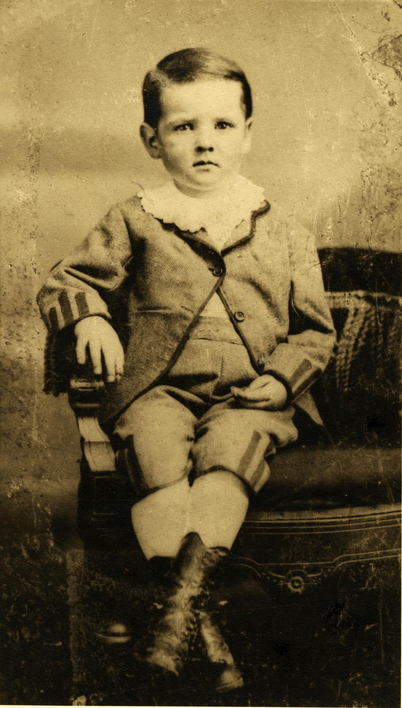 Herbert Hoover, age 3.