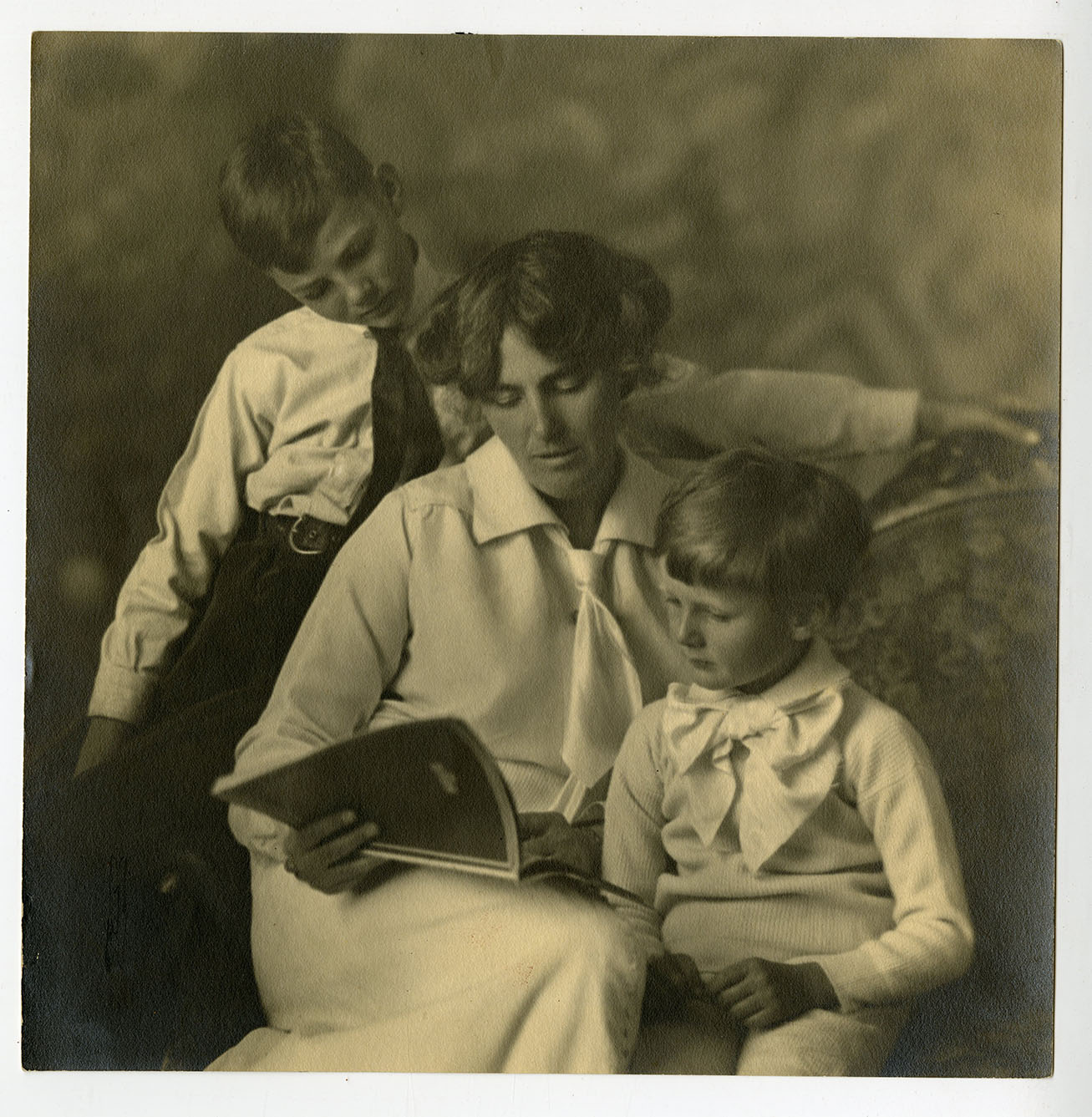Portrait of Lou Hoover, Herbert Jr. ( age 15) and Allan (age 11)  Hoover. ca. 1912