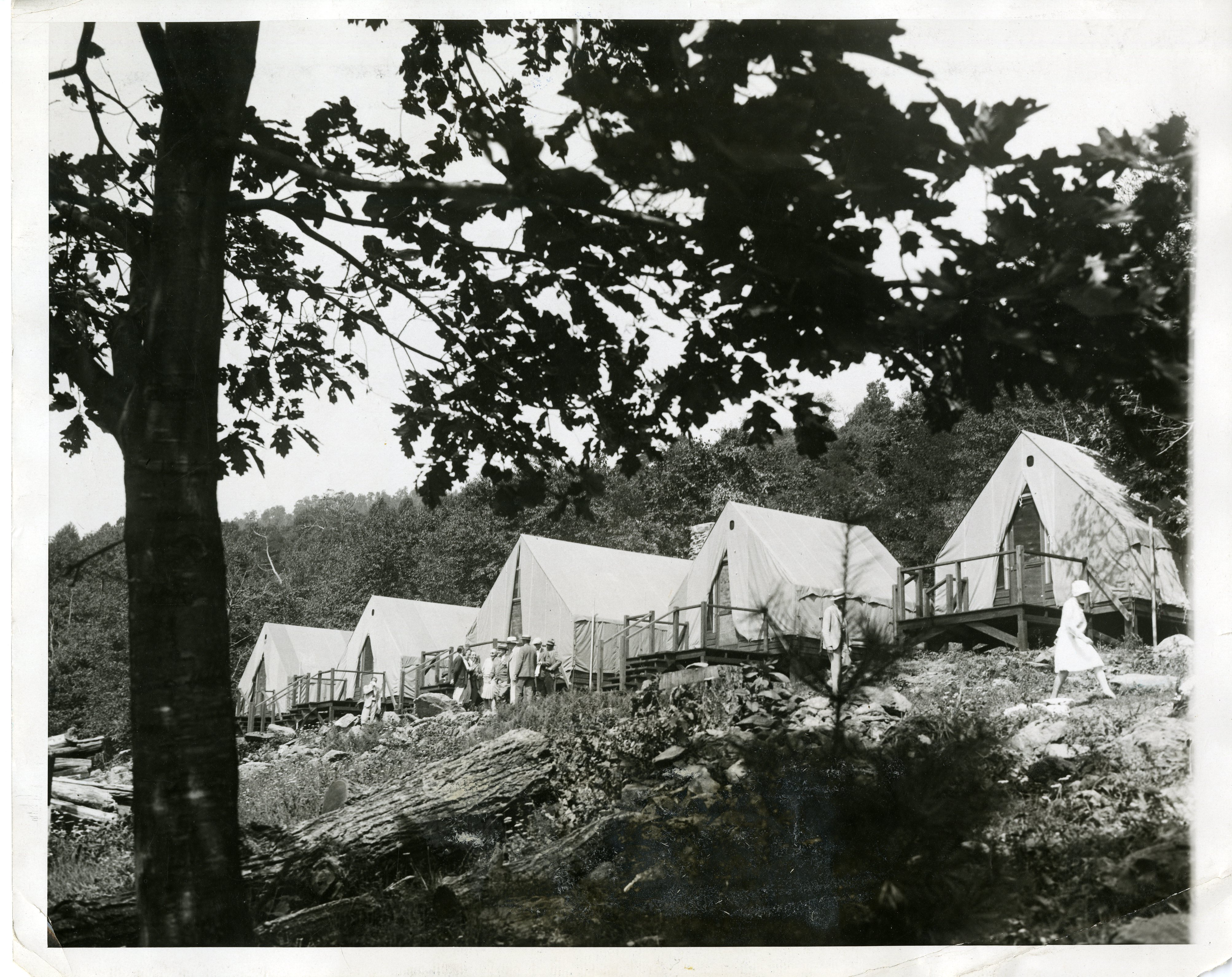 President Hoover's guest tents at Camp Rapidan, summer 1929.