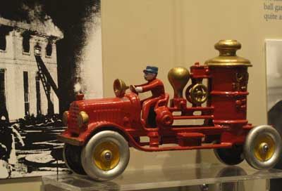Fire truck from 1929 on display at the Hoover Presidential Library-Museum