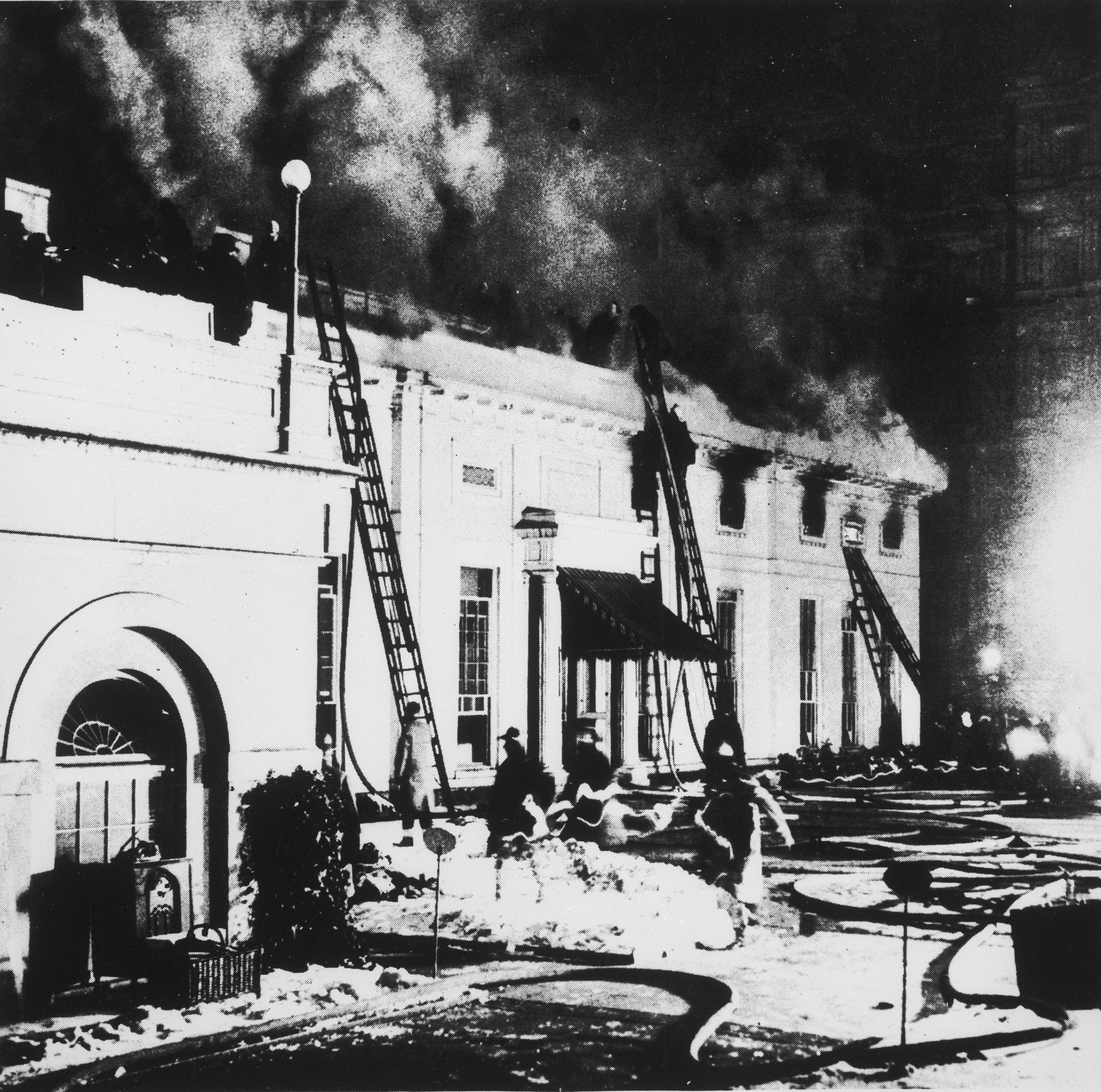 White House fire, Christmas Eve, 1929.
