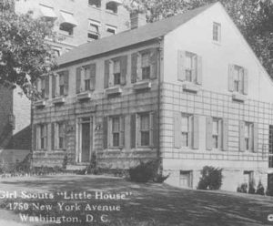 In 1924, the Girl Scouts in Washington, D.C. obtained a house, built as a Better Homes in America demonstration house by the General Federation of Women's Clubs the year prior.