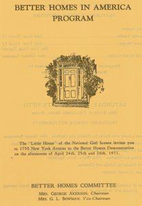 Better Homes in America Program, 1931.