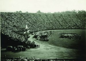 The crowd at Stanford Stadium for Hoover's acceptance speech. Aug. 11, 1928