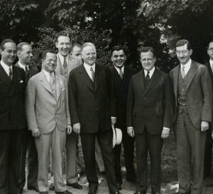 President Hoover with the New York Young Republicans.  June 1932