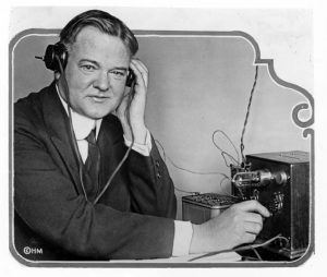 Secretary of Commerce Herbert Hoover had this small radio receiver installed in his home in order that he could better understand the complaints received by the Commerce Dept. from citizens with similar